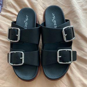 J/slide platform Birkenstock style sandals NWOT